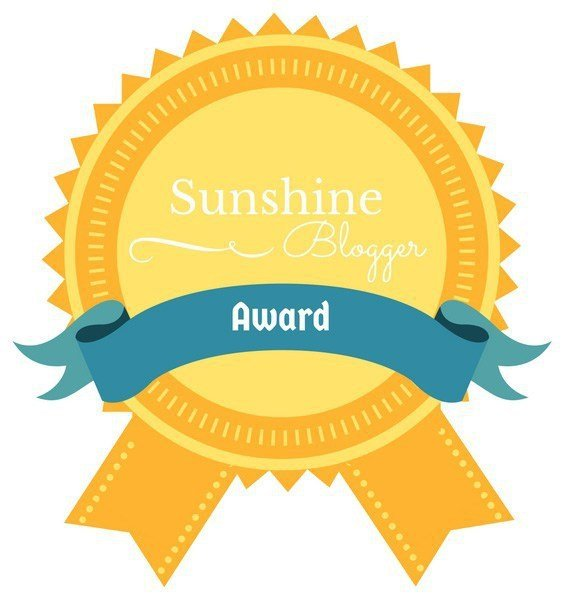 Delighted to be nominated for Sunshine Blogger Award!
